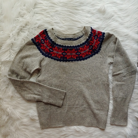 American Eagle Outfitters Sweaters - American Eagle Nordic Pattern Wool Sweater